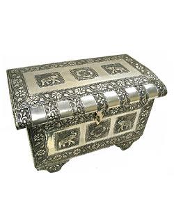 Elephant Jewelry Box : elephant, jewelry, Embossed, Elephant, Jewelry, (India), Overstock, 591593