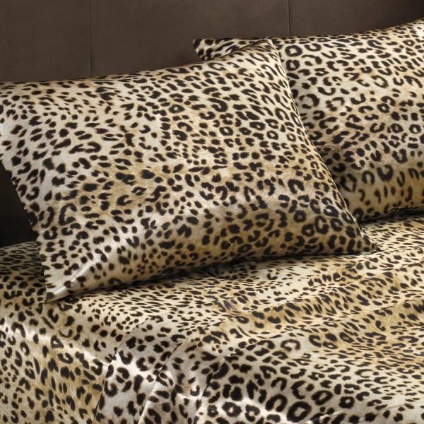 Premier Comfort Cheetah Polyester Textured Satin 6-piece Queen-size Sheet Set - Free Shipping