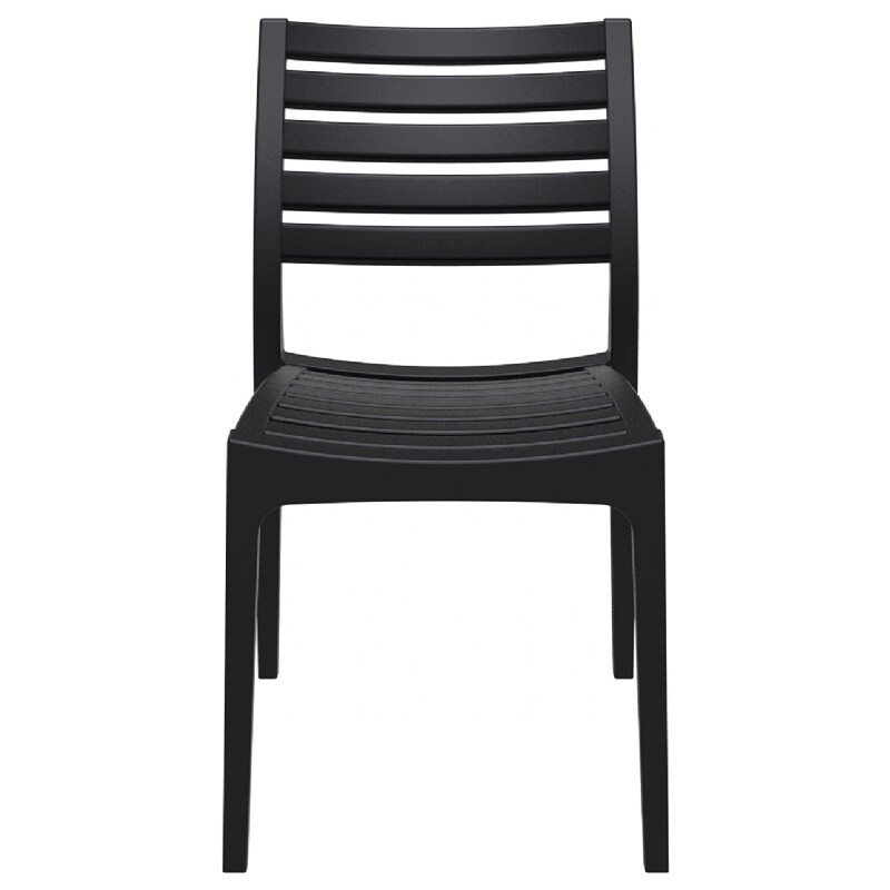 ares resin outdoor dining chair 2 chairs black