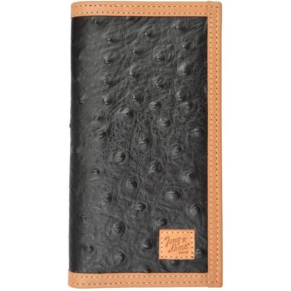 Shop Tony Lama Western Wallet Mens Rodeo Ostrich Print