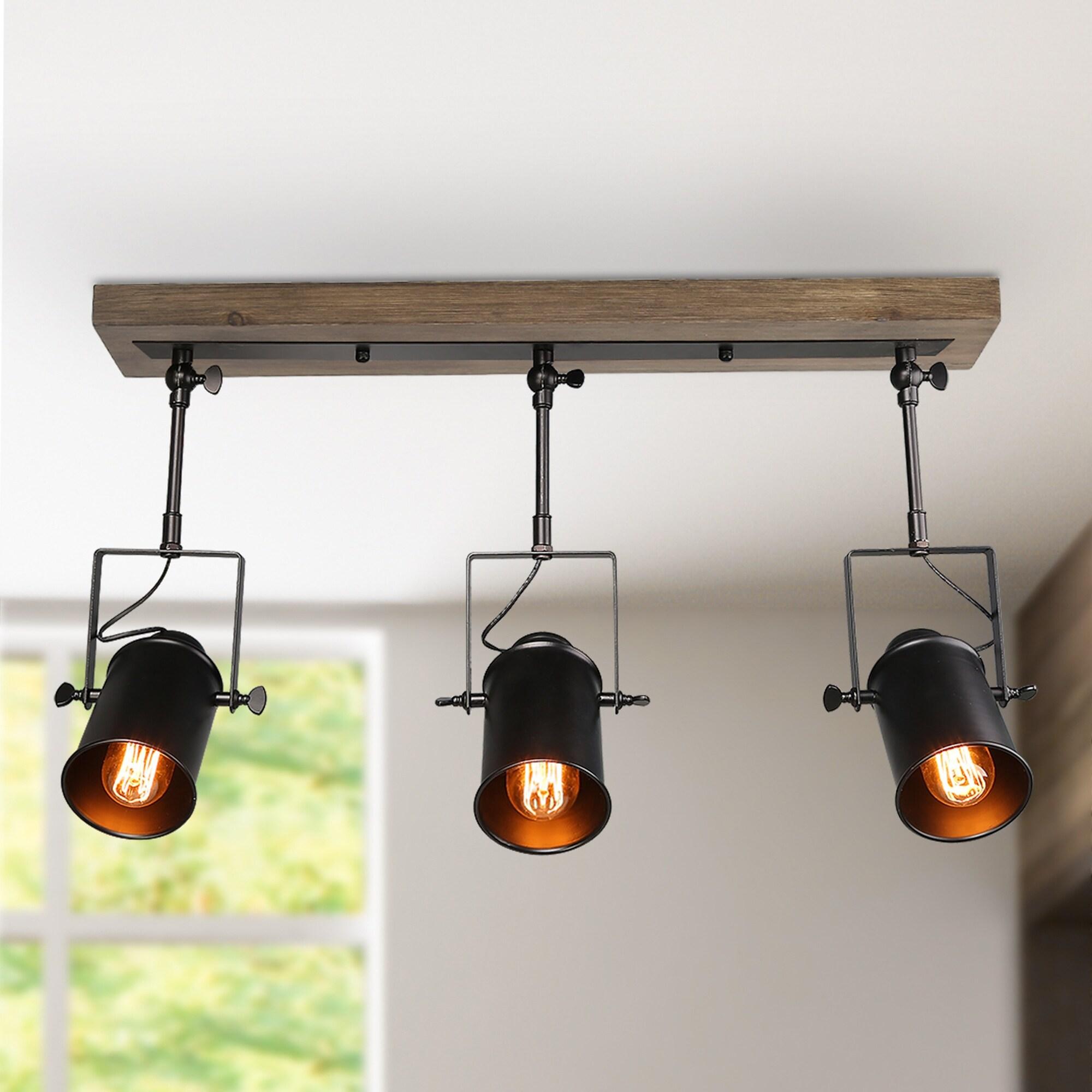 lnc modern farmhouse 3 light wood ceiling track lighting spotlights 24 8 x 4 7 x 15 3