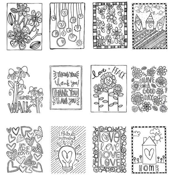 Shop ArtPlay Watercolor Paper Mini Coloring Book 4