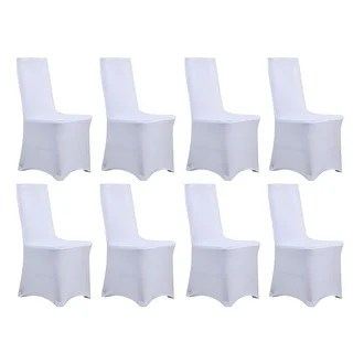 chair covers for parties to buy folding table and chairs set india white spandex slipcovers online at overstock com 8pcs universal stretch hotel wedding party banquet decoration