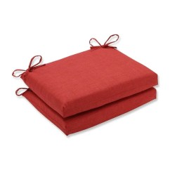 Wicker Chair Cushions With Ties Modway Office Reviews Shop Set Of 2 Sunset Red Outdoor Patio Seat 18 5 Free Shipping Today Overstock Com 16612155