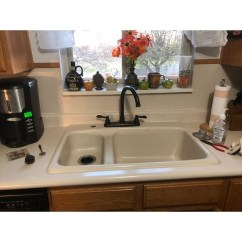 Oil Rubbed Bronze Kitchen Sink Farm Style Shop Designer Faucet With Side Sprayer Free Shipping Today Overstock Com 12041348