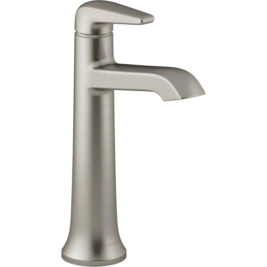 kohler k 22023 4 tempered 1 2 gpm single hole vessel bathroom faucet