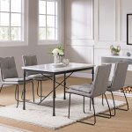 Carbon Loft Ivan Faux Marble Dining Table White Faux Marble And Black Overstock 25618130