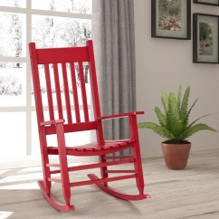 Wooden Rocking Chairs For Adults Indoor Handicap Swing Chair Shop Gymax Solid Wood Porch Rocker Outdoor Deck Patio Backyard