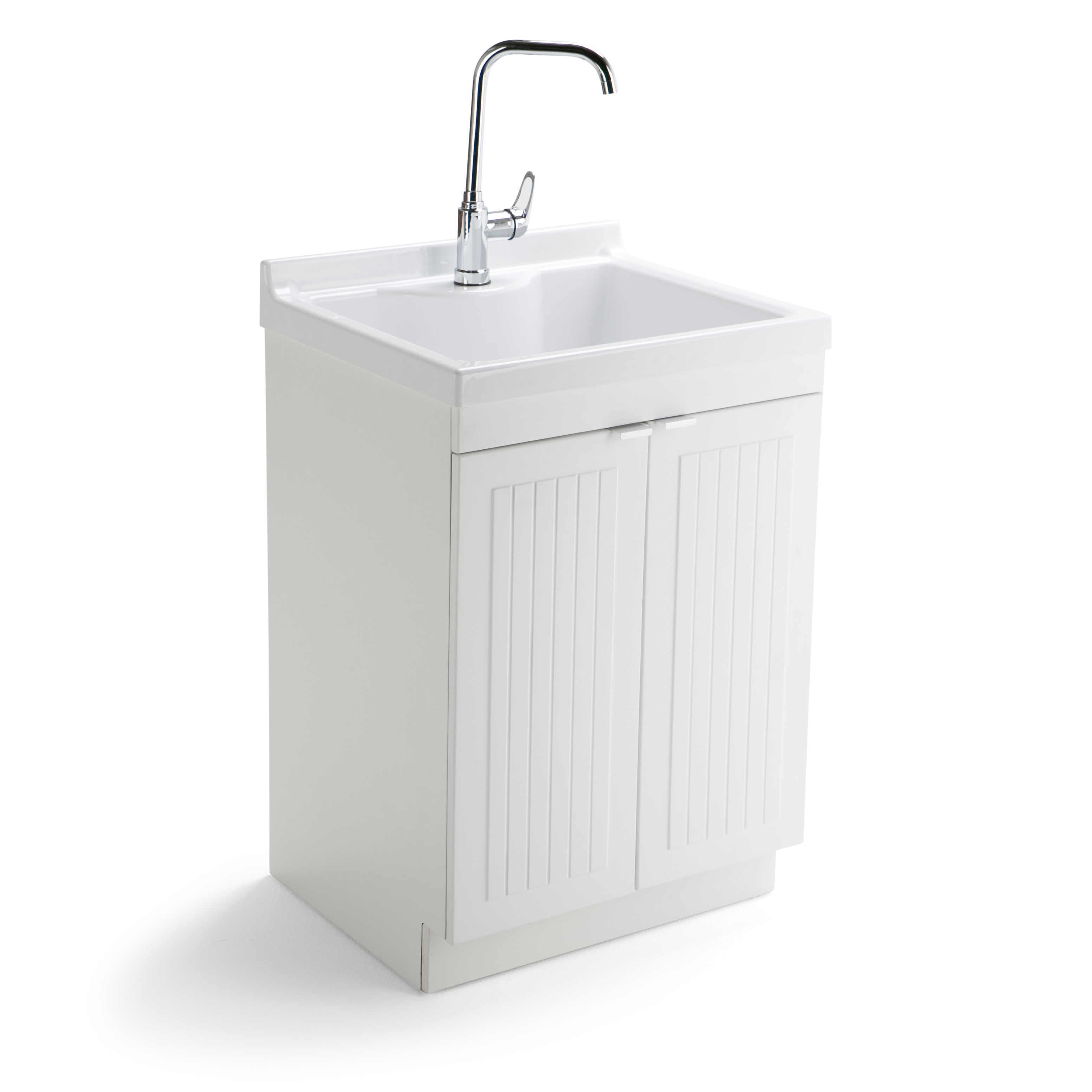 wyndenhall bishop traditional 24 inch laundry cabinet with faucet and abs sink 24 w x 47 8 h x 20 5 d