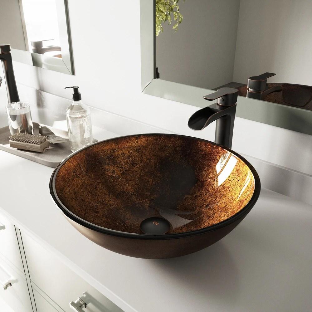 buy bronze finish bathroom sinks online