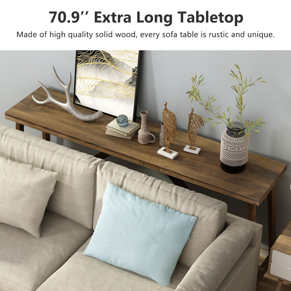 extra long sofa table solid wood behind the sofa table