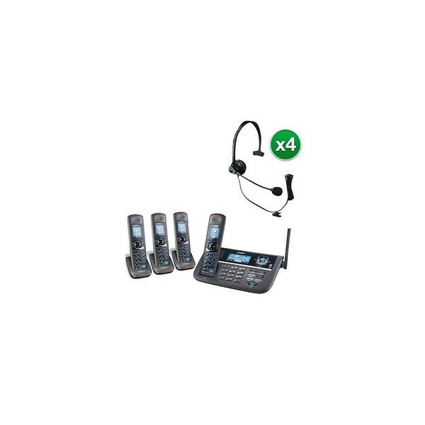 Shop Uniden DECT4086-4 with Headset DECT 6.0 2 Line