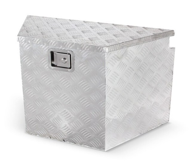 Arksen 29 Heavy Duty Aluminum Diamond Plate Underbed Storage Trailer Tongue Utility Tool Box
