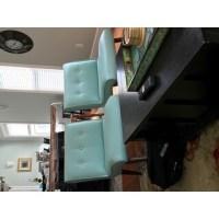 Mid-century Aqua Bonded Armless Chair - Free Shipping ...