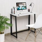 Gymax Folding Computer Desk Table Laptop Pc Writing Study Workstation Overstock 28373801