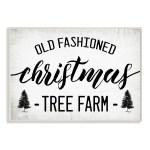 Stupell Industries Rustic Minimal Christmas Tree Farm Black White Wood Wall Art On Sale Overstock 32084457