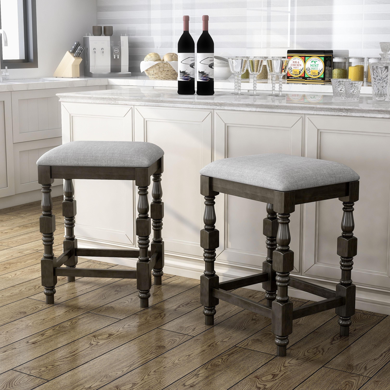 Furniture Of America Adagio Farmhouse Counter Height Stool Set Of 2 On Sale Overstock 31273386