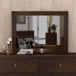 Harper Bright Designs Vintage Dresser Mirror Rich Brown On Sale Overstock 31825301