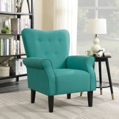 Modern Wingback Chair Canada Colonial Style Dining Chairs Shop Belleze Living Room Armchair Accent High Back Linen Mallard Teal