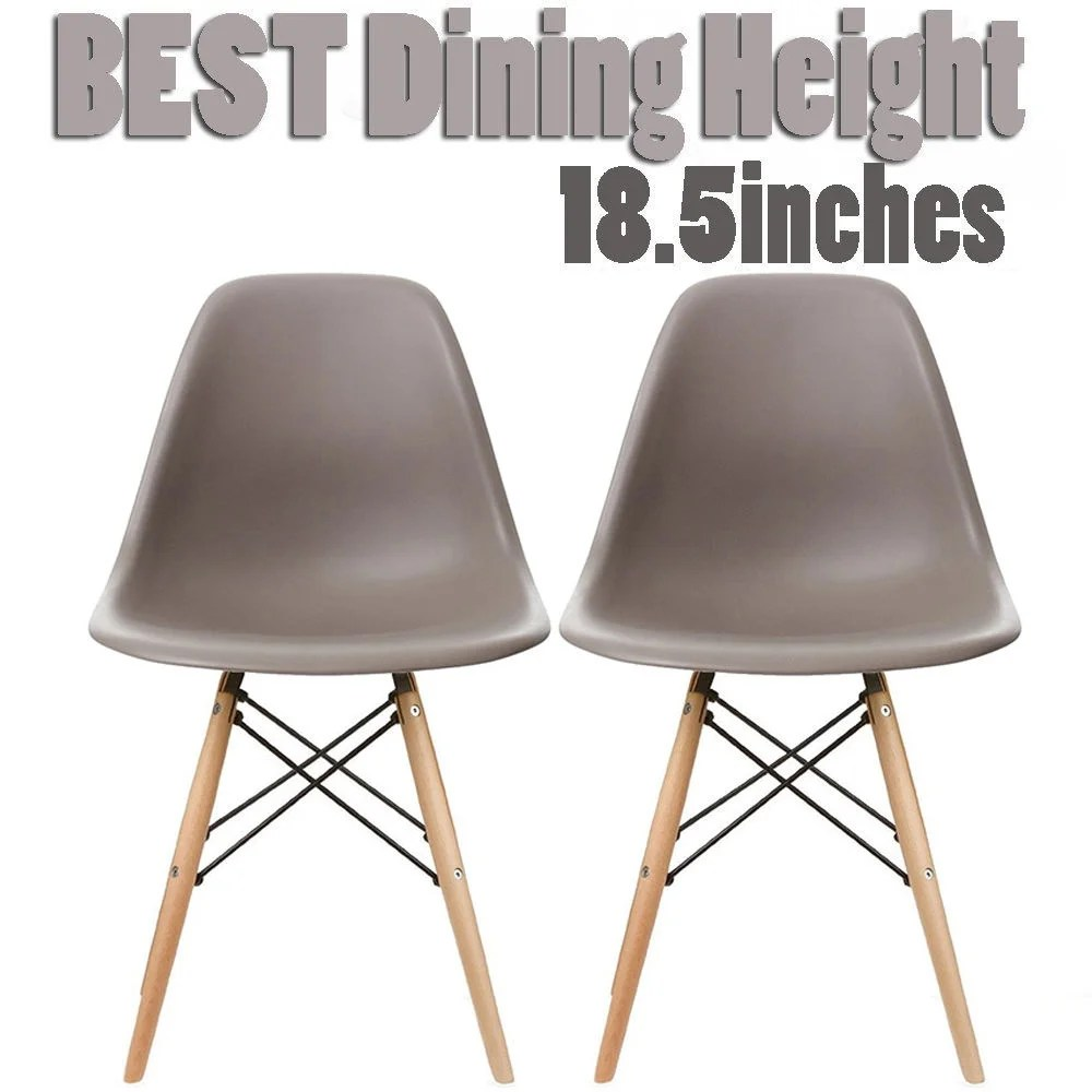 eiffel chair wood legs indoor lounge for two set of 2 mid century modern dining chairs mod made 2xhome plastic side colors with natural