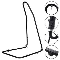 Hammock Chair Stand Adjustable Desk Types Shop Costway For Hammocks Swings Hanging Chairs Steel Frame Black Free Shipping Today Overstock Com 16399323