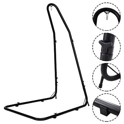 hanging chair stand leather parson chairs shop costway adjustable hammock for hammocks swings steel frame black free shipping today overstock com 16399323