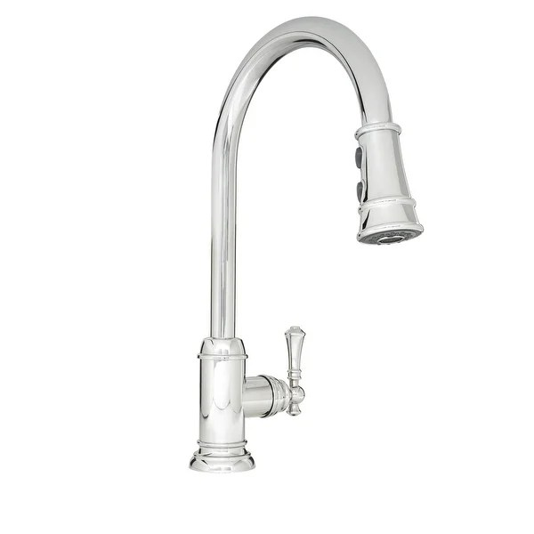 pull out spray kitchen faucet island with bar stools shop mirabelle mirxcam100 amberley pullout high arch gooseneck spout n a free shipping today overstock com 15049039