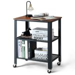 Gymax Industrial Serving Cart 3 Tier Kitchen Utility Cart On Wheels Overstock 28904134