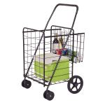 Shop Black Friday Deals On Costway Folding Shopping Cart Jumbo Basket Grocery Laundry Travel W 24 4 X24 0 X 39 6 On Sale Overstock 16639878