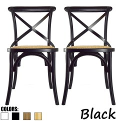 Black Cross Back Dining Chairs Kmart Bean Bag Shop 2xhome Set Of 2 Modern Contemporary Antique Farmhouse Decor Wooden Frame Wood