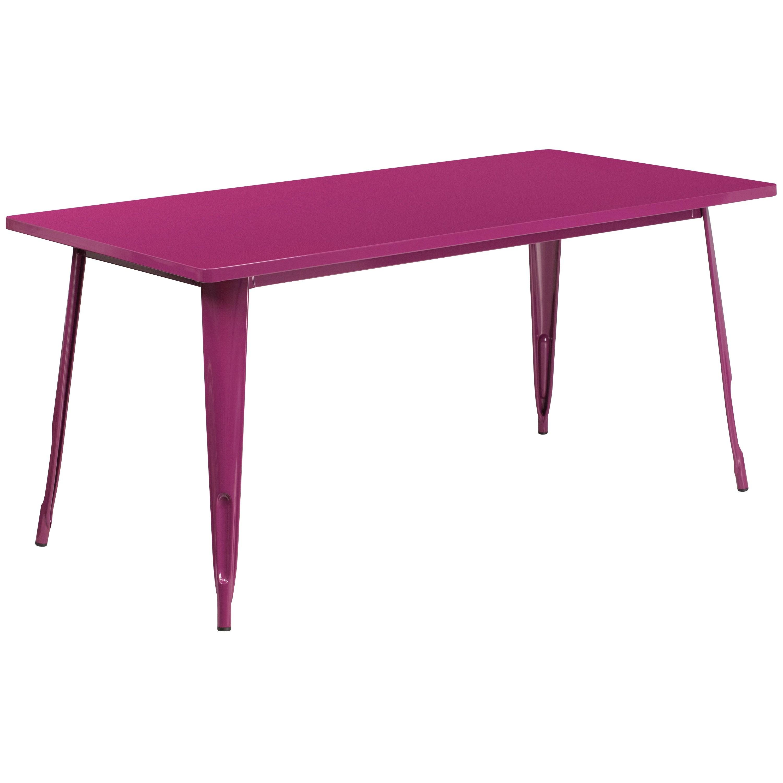 31 5 x 63 rectangular metal indoor outdoor table industrial table