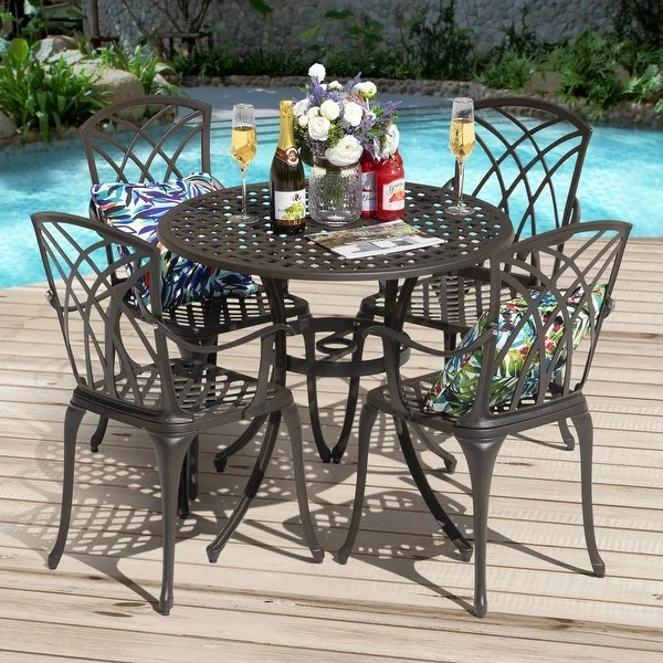 buy round outdoor dining sets online at