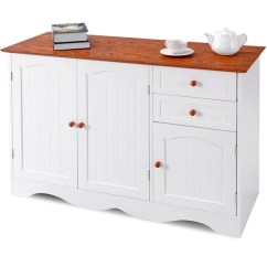 Kitchen Buffet Storage Cabinet Bar Ideas Shop Gymax Console Table Sideboardd Home Furni W 2 Drawers As