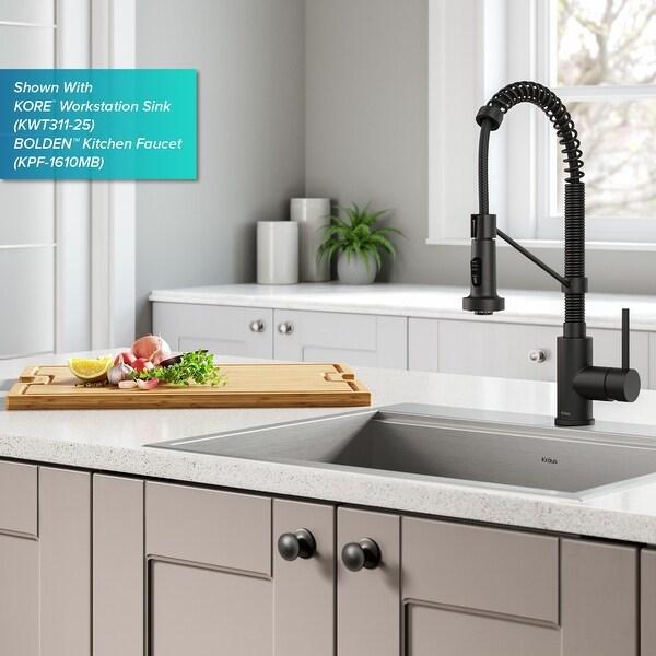 kraus workstation kitchen sink solid