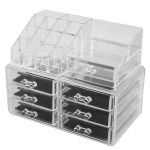 Shop Black Friday Deals On Home Acrylic Multilayers Jewelry Makeup Organizer Container Box Set 2 In 1 Black Clear Overstock 17633210