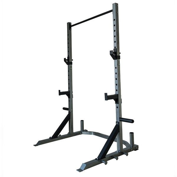 Shop Akonza Barbell Deluxe Power Cage Rack Band Post