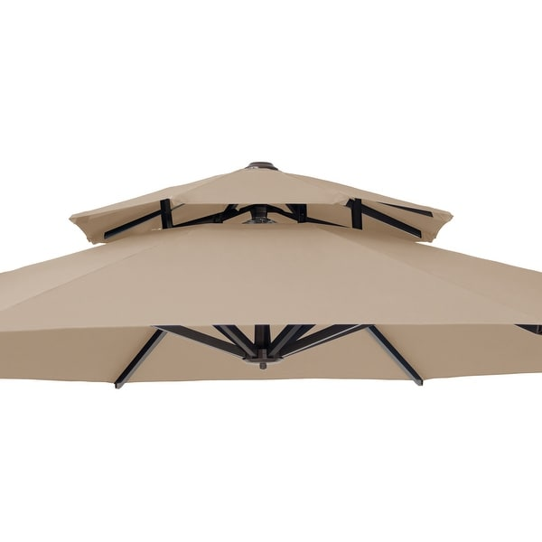 https www overstock com home garden crestlive products patio luxury 12 ft double top round offset umbrella 31636635 product html