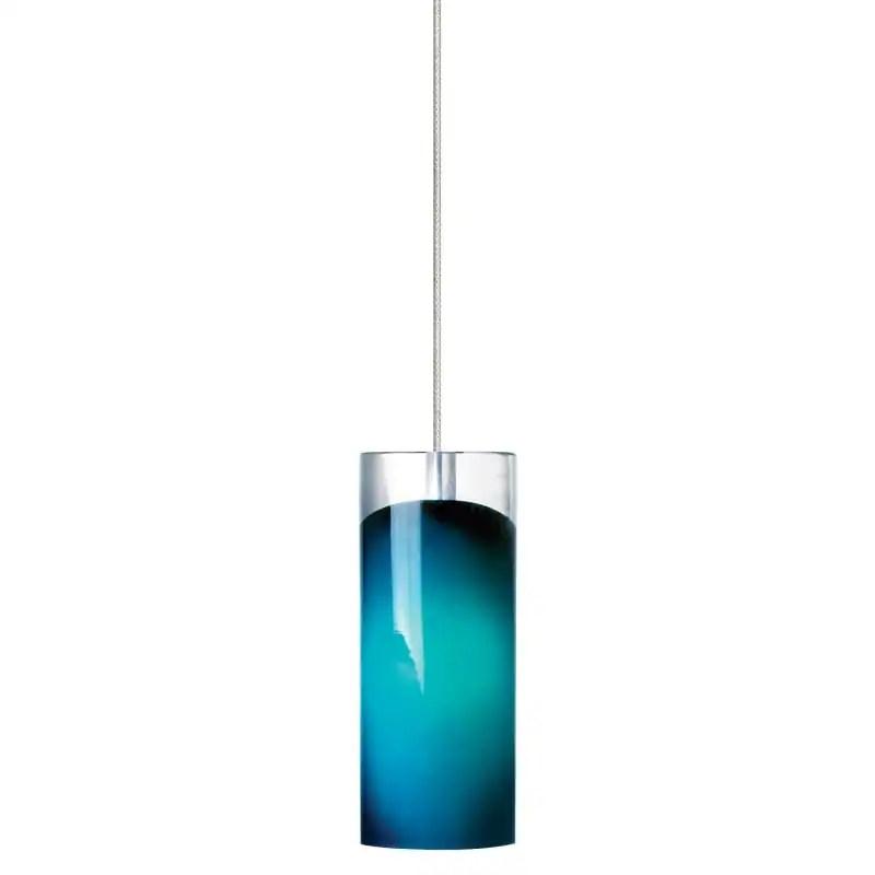 lbl lighting horizon steel blue 50w monorail 1 light mini pendant