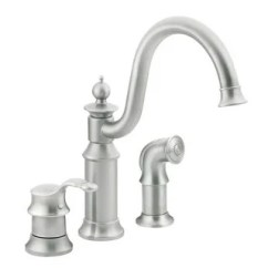 Moen Faucet Kitchen Tile Backsplash Buy Faucets Online At Overstock Com Our Best S711csl Waterhill One Handle High Arc Classic Stainless Finish