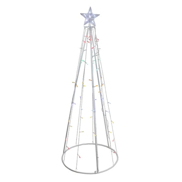 Shop 5' Multi-Color LED Lighted Show Cone Christmas Tree