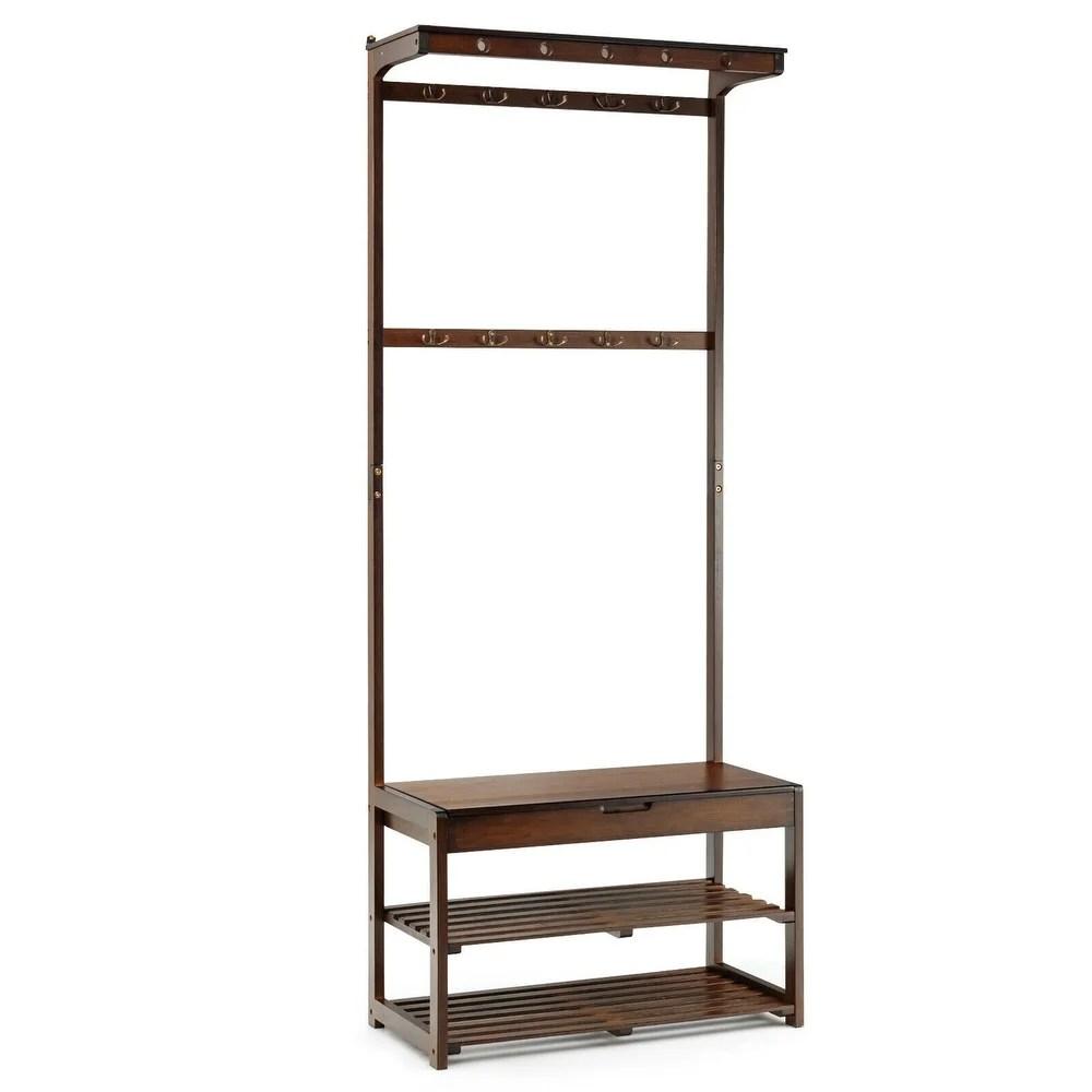 buy coat rack bench wood online at