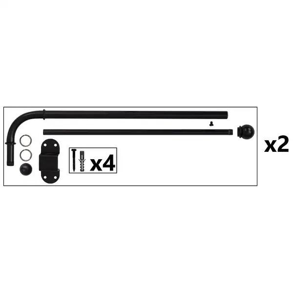 1 2 adjustable swing arm window