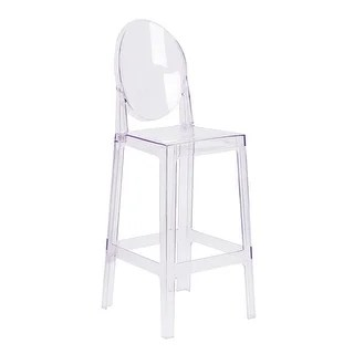 ghost chair bar stool swing cad block free buy clear counter stools online at overstock com our best dining room furniture deals