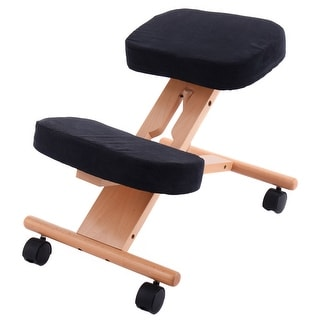 ergonomic chair kneeling review massage seattle top product reviews for costway wooden adjustable mobile padded seat and knee rest new
