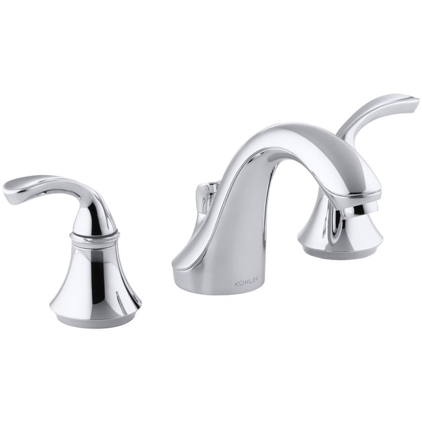kohler k 10269 4 forte widespread bathroom faucet with ultra glide polished chrome