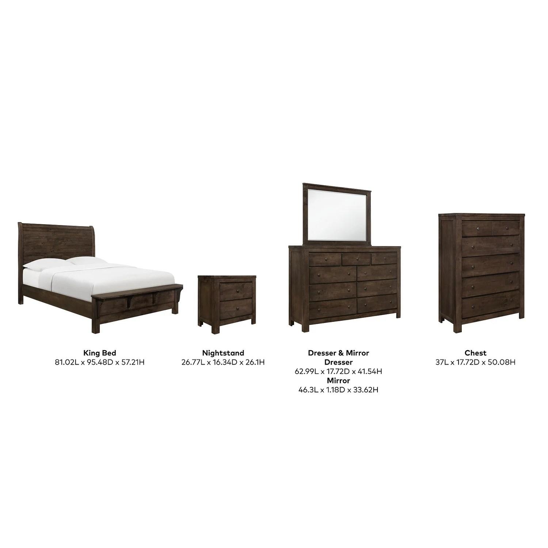 copper grove cole modern rustic bedroom set