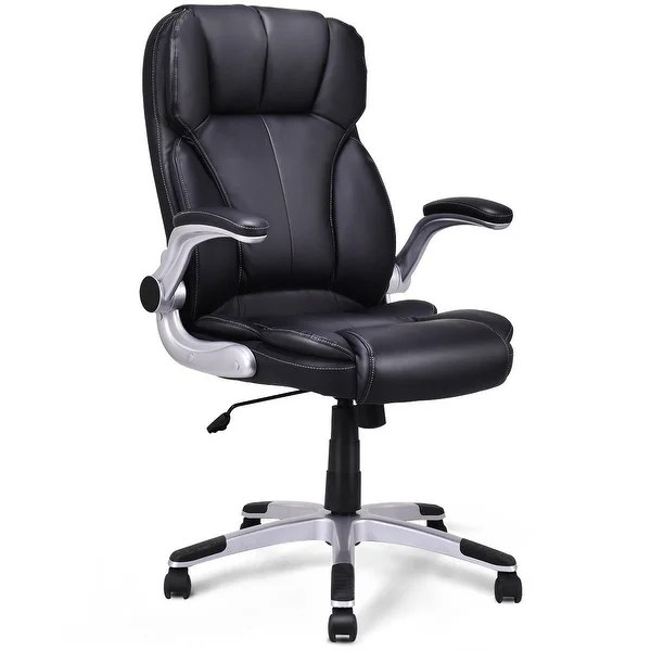 Shop Costway High Back Executive Office Chair PU Leather