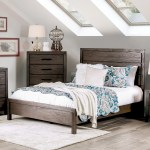 Furniture Of America Nali Rustic Grey Solid Wood Panel Bed On Sale Overstock 20010114