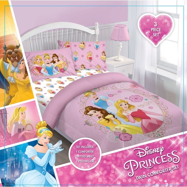 girls disney princess comforter