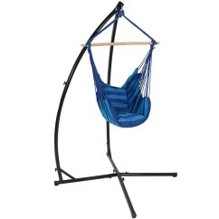 Swing Hammock Chair With Stand Directors Bar Stool Leather Shop Sunnydaze Durable X And Hanging Set Or Only